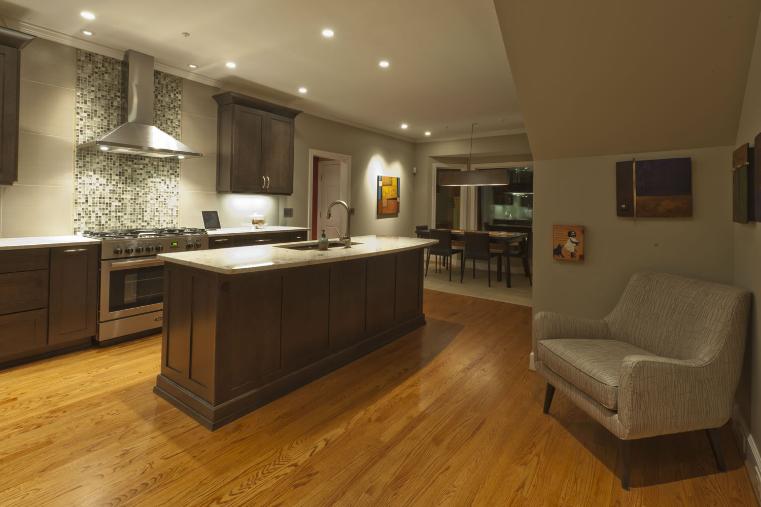transitional kitchen | handcrafted homes inc
