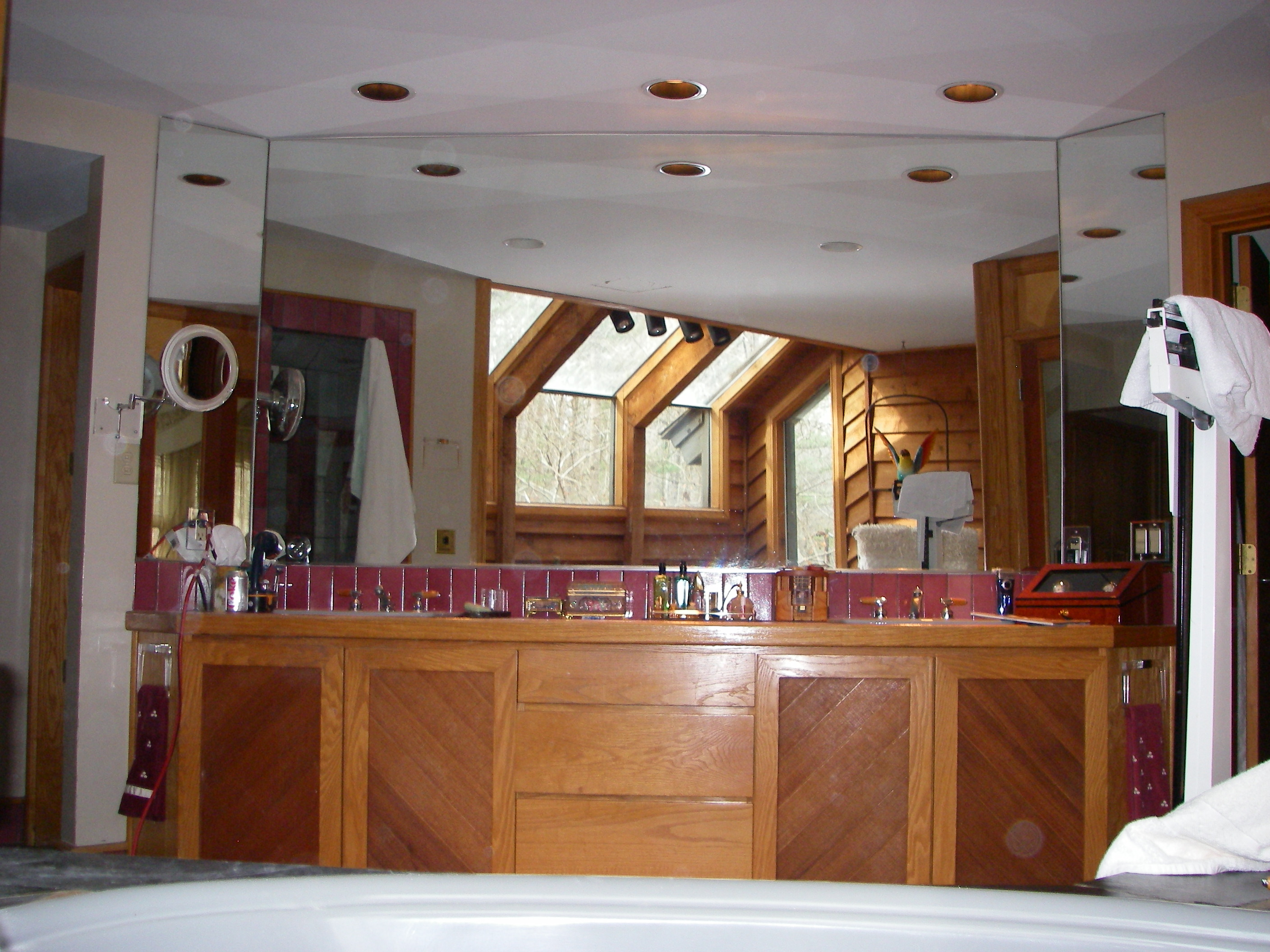 Contemporary Master Bath Remodel Handcrafted Homes Inc