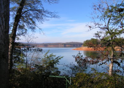 Landscape view of lake in Georgia