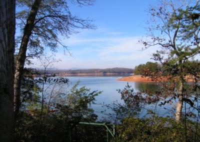 Landscape view of lake in Georgia