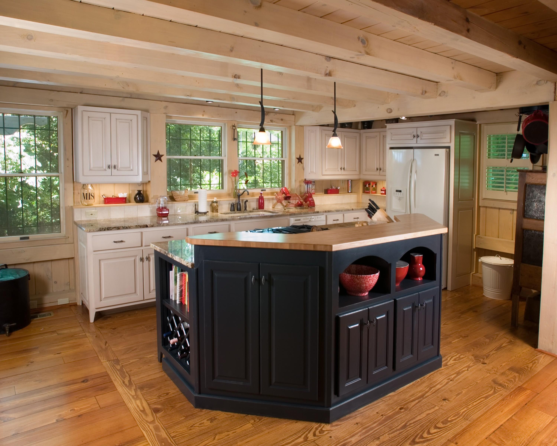 Post Beam Kitchen Atlanta Home Remodeling